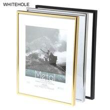 Metal Picture Frame Classic Minimalist Desktop Photo 9x13 13x18 21x30cm Pleixglass Inside Certificate