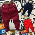 Ropa de bebé de moda 2-7años bebé niños vaqueros suaves pantalones vaqueros Niños pantalones de mezclilla azul pantalones casuales otoño del resorte