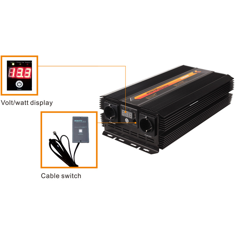 For Car Home Inverter 2000W 12V 24V to 220V Modified Sine Wave Car Inverter in Fuses from Automobiles Motorcycles