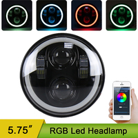 RGB App 5.75inch Round Led Projection Daymaker Headlight Motorcycle H4 Hi Lo Beam 5 3/4 inch Headlamp for Harley Softail Dyna