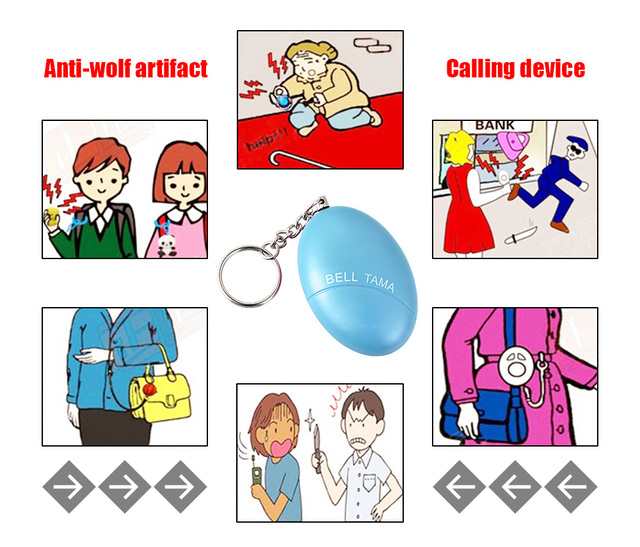 Fuers 1pcs 120DB Keychain Alarm Self Defense Women Security Personal Safety Scream Loud Self Defense Keychain Alarm Self Defence 5