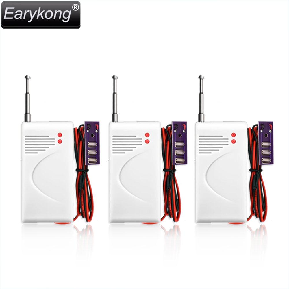 3 pcs lot Wireless 433MHz Water Leakage detector Water Overflow sensor For home burglar font b