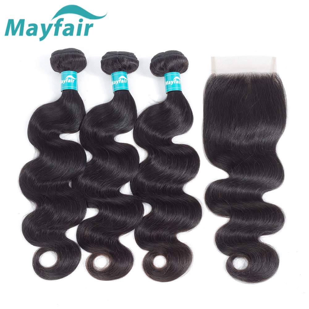 Mayfair Brazilian Body Wave With Closure Remy Hair Brazilian Hair Wave Bundles With Closure 3 Bundles Human Hair With Closure