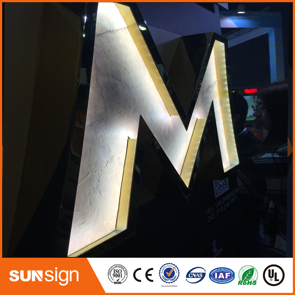 High Quality LED Front Lit Letter Signs/wedding Decoration Light Up Letter