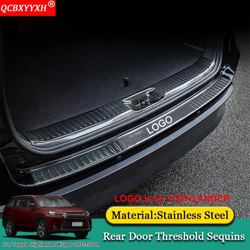 QCBXYYXH Car Styling Internal External Scuff Plate/ Door Sill Threshold Trim Accessories For Toyota Highlander Kluger 2015-2018 for highlander trim a