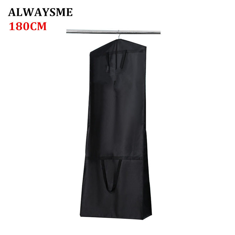 ALWAYSME 180CM Thicker Universal Wedding Dress Foldable Storage Bag Cover Home Dress Clothes Cover Case Dustproof Protector Bag