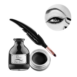 2017 New PUDAIER Brand Professional Eyeliner Makeup Gel Long Lasting Magic Waterproof Black Eyeliner Gel with Feather Brush