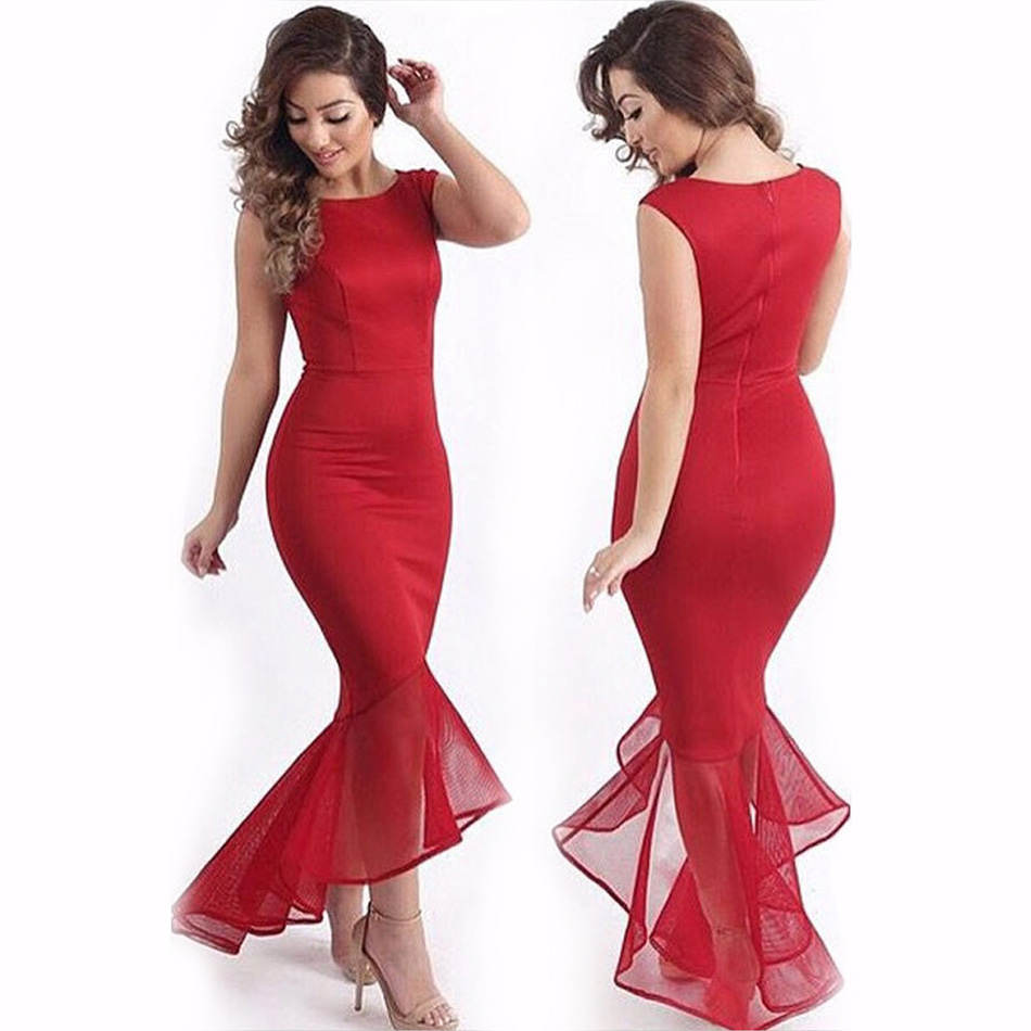 Popular Long Red Dress-Buy Cheap Long Red Dress lots from China ...