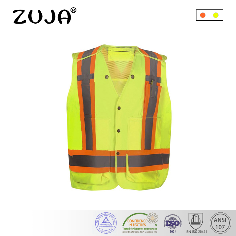 High Visibility Reflective Vest Workwear with Pockets Outdoor цена