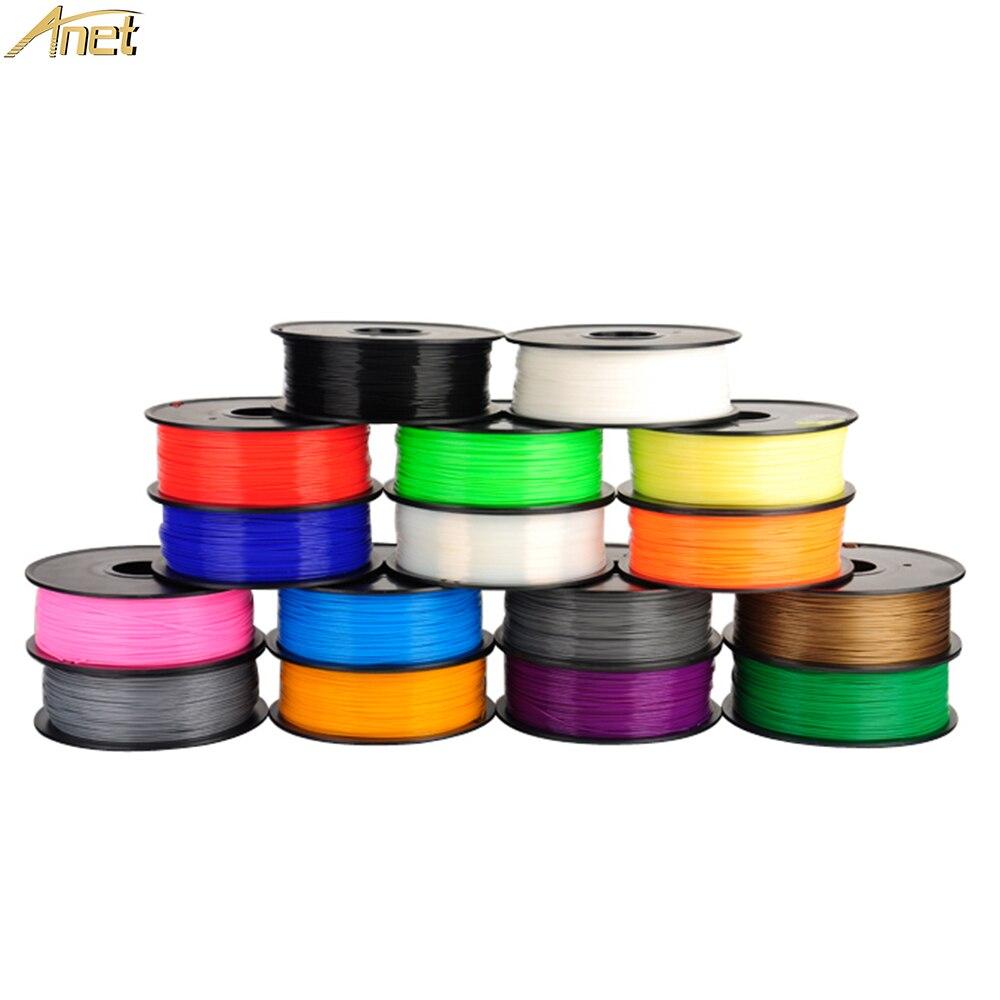 10pcs/lot Anet PLA Filament 3d Printer Filament PLA 1.75mm 1kg/spool For MakerBot/RepRap/kossel/Createbot
