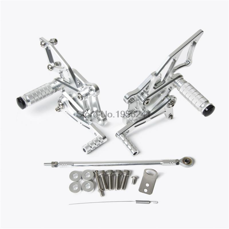 Motorcycle CNC Adjustable Rearsets Rear Set Footrests for