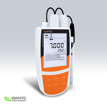 Multiparameter portable water quality meter pH ORP mV conductivity TDS temperature tester USB data 1 to 5 points cal ATC