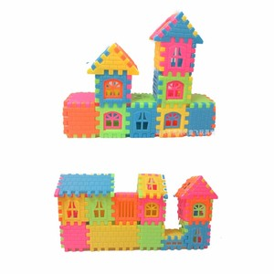 Image 2 - 44pcs / lot puzzle fun three   dimensional assembled house building  toys can be opened window building  toys