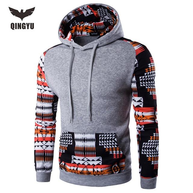 2016 Hoodies Men Hombre Hip Hop Male Brand Leisure Hoodie Digital Printing Sweatshirt Suit Mens Splice Slim Fit Men Hoody XXL
