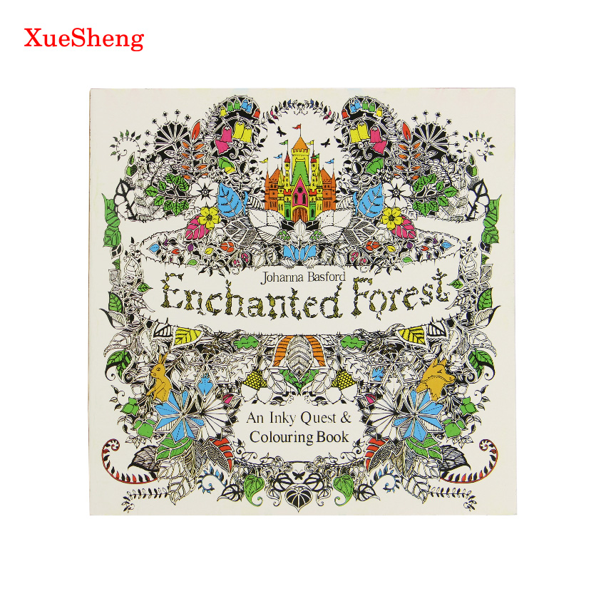 24 Pages Enchanted Forest English Edition Coloring Book For Children Adult Relieve Stress Kill