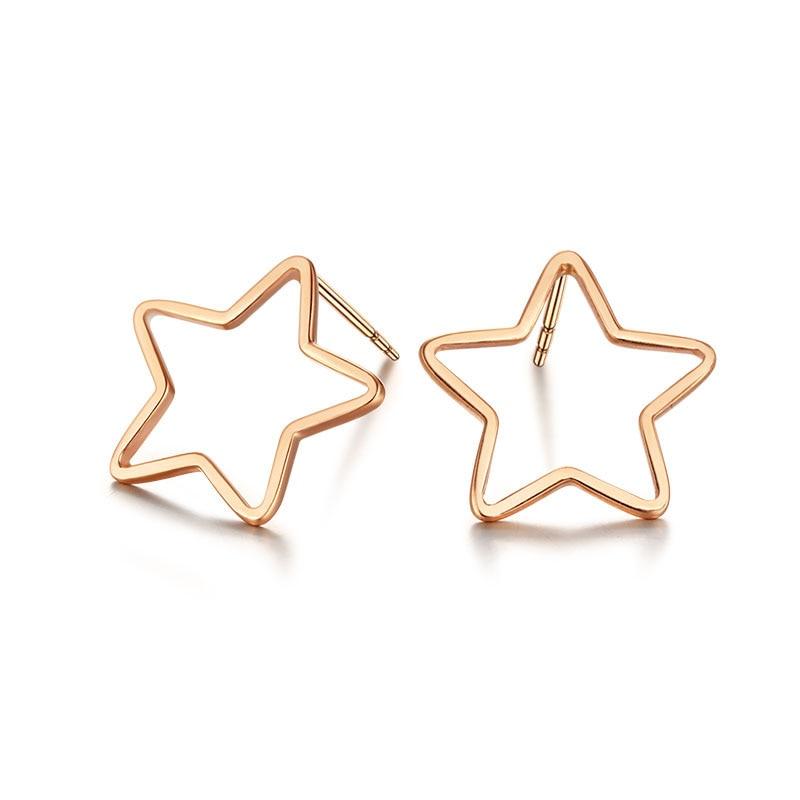 Boucles d'oreilles en or Rose AU750 massif pour femmes