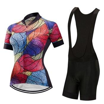 2019 bib manga curta camisa de ciclismo definir Mulheres roupas bicicleta de estrada kit montanha Verão bicicleta roupas desgaste MTB triathlon terno