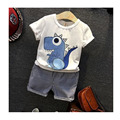 2016 Summer children's clothes 2t-6t summer children's cartoon boy's clothes children's clothes T-shit + pants two pieces of clo