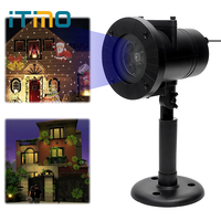 ITimo Christmas Laser Snowflake Projector Light Holiday Decoration 12 Patterns Home Garden Snow LED Stage Lamp