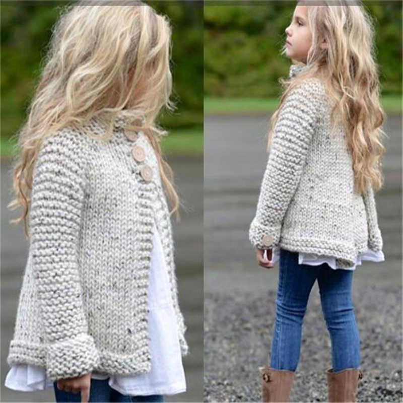 Коллекция 2017 года, осенне-зимние свитера с плащом для маленьких девочек, свитера с длинными рукавами, Bebes, новое трикотажное пальто, одежда, От 1 до 8 лет