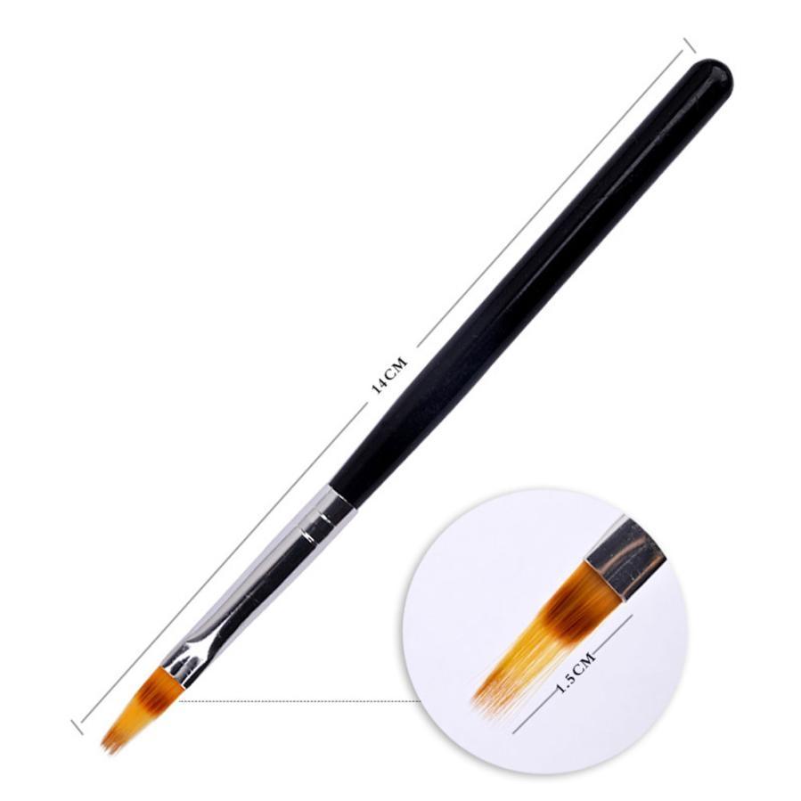 TSW DIY Handle UV Gel font b Nail b font Art Tip Care Pen Brush Manicure