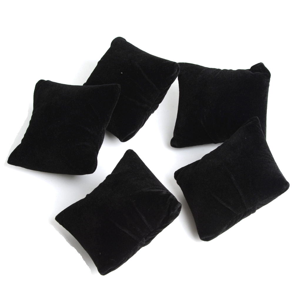 5pcs/lot Black Velvet Jewelry Bracelet Watch Boxes Display Pillows,Bracelet Watch Jewelry Showcase Display #95216