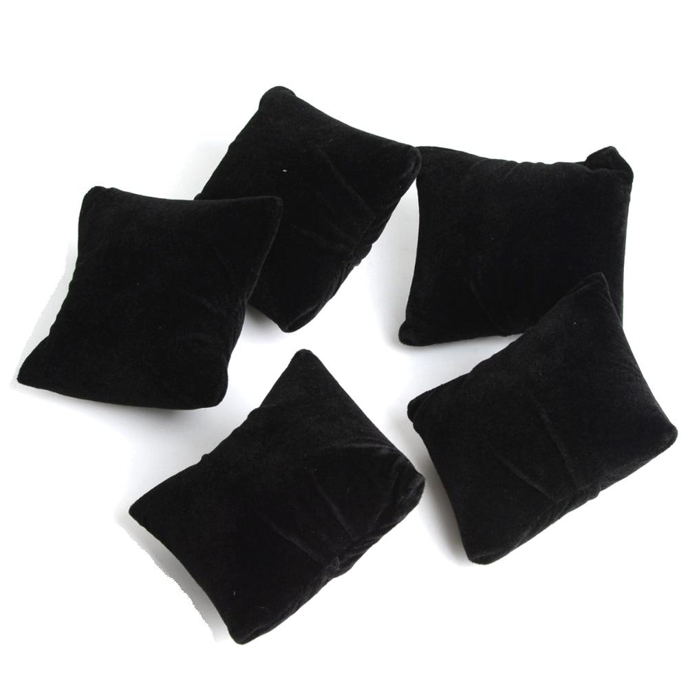 5pcs/lot Black Velvet Jewelry Bracelet Watch Boxes Display Pillows,Bracelet Watch Jewelry Showcase Display #95216