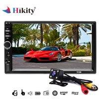 Hikity 7 Autoradio 2 din Car Radio Bluetooth MP5 car multimidia player 7018b Touch Screen 2din Audio Stereo Rear View Camera