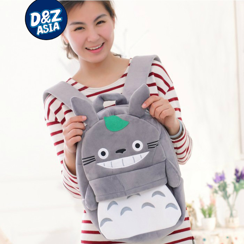 Plush cartoon children shoulder bag totoro backpack for kids baby boys and girls plush t ...