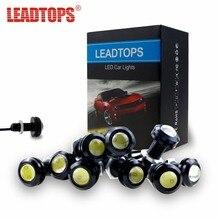 LEADTOPS 10ps 18mm DRL LED Eagle Eyes Lights Source Waterproof Parking Lamp 12v Car Work Daytime Running Light DJ