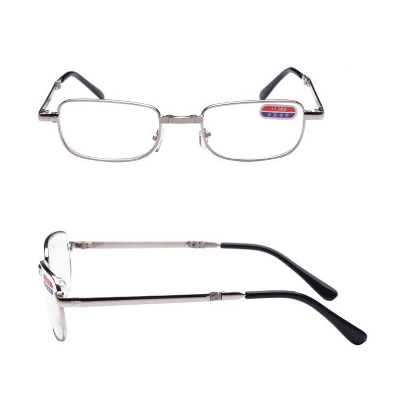 39fefa5961d Folding Up Reading Glasses With Case Old People Fashion Clear Lens Fold Up  Eyewear Women Men Vintage Presbyopic Eyeglasses YJ924-in Reading Glasses  from ...