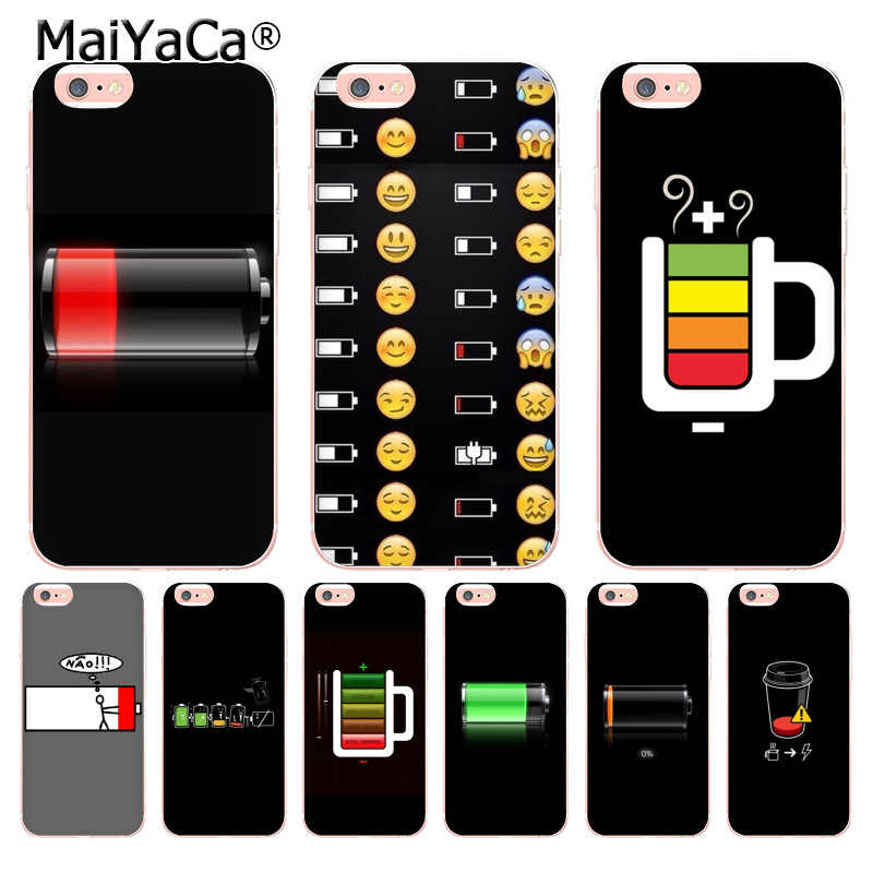 various colors 7c3c1 2515f MaiYaCa Battery Life Cycle Funny Newest Super Cute Phone Cases for Apple  iPhone 6 6S 7 8Plus X 5s SE 5C case Cover