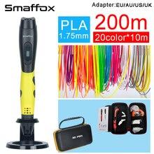 SMAFFOX 3D ручка SMA-04 200 метра PLA нити 3D печати ручки с светодиодный дисплей четыре цвета Малыш diy инструмент для рисования литья ручка 3D
