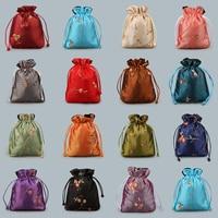 Grote organza tassen gift verpakking zakken gemengde kleur drawable pouch sieraden tassen vintage stijl bolsa joyas organza tassen 11x14 cm