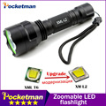 C8 xm-l2 led flashlight   LED 4000LM Torch Night Hiking Camping Fishing Rechargeable Waterproof flash light