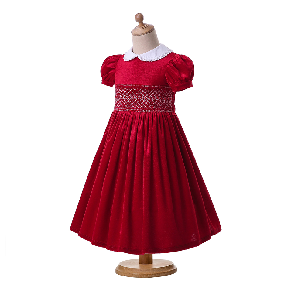 aliexpresscom buy pettigirl red smocked christmas dresses hand smocking easter baby clothing boutique outfits g dmgd108 b407 from reliable dresses - Smocked Christmas Dress