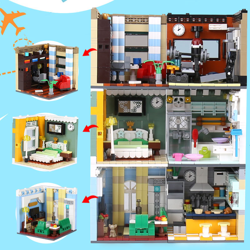 XINGBAO 01401 Building Series LegoINGys Living House Set Funny Building Blocks Bricks Educational Toys As Kids Christmas Gifts 72pcs educational building blocks set