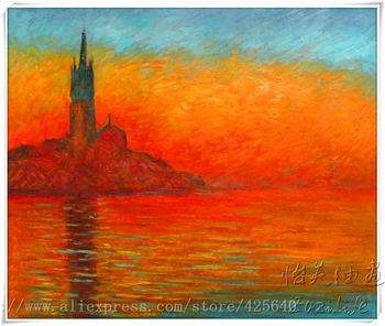 Venice oil painting italian landscape oil painting on canvas hight Quality Hand-painted The Venice Claude  Monet