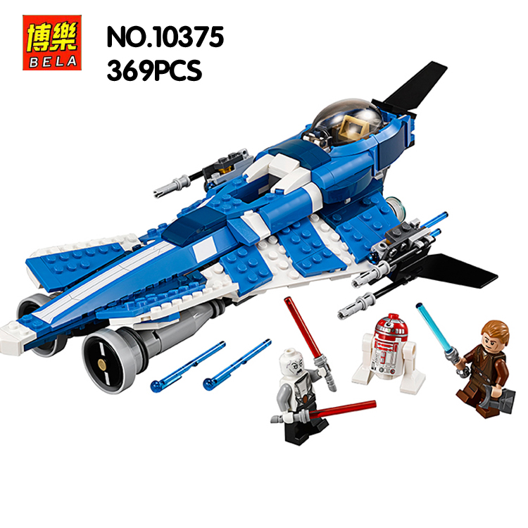BELA 10375 Compatible with lepin Star Wars Anakin's Custom Jedi 75087 Building Block Figure Educational Toys for Children lepin 05003 star wars first order transporter building block 845pcs diy educational toys for children compatible legoe