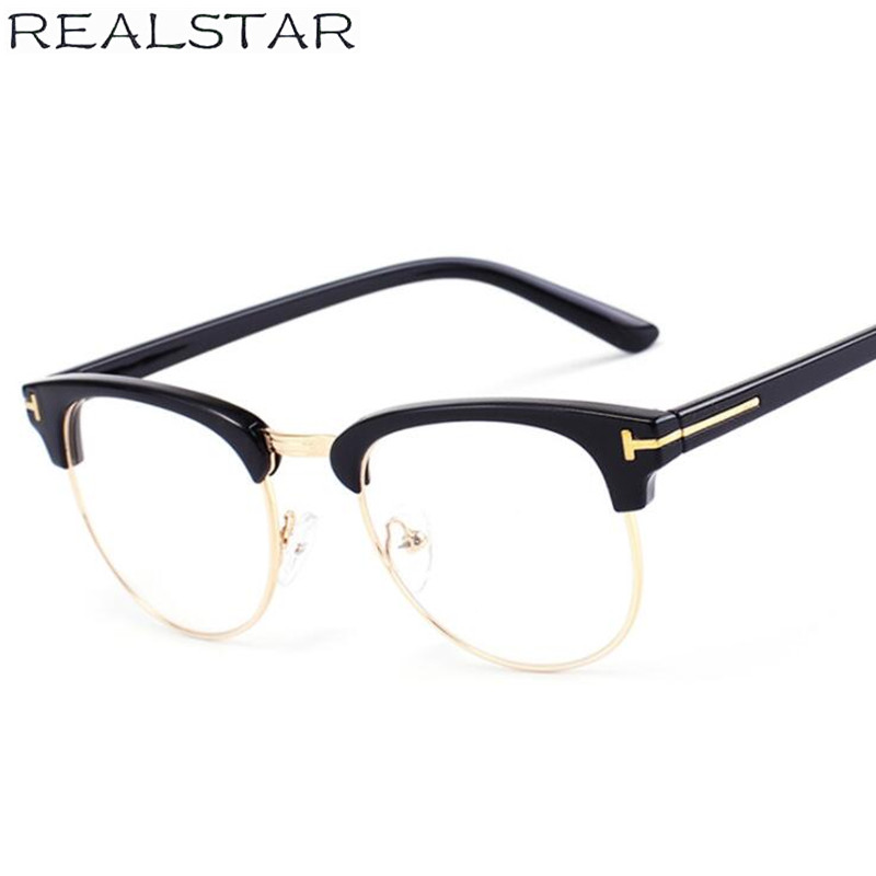 3ee5265f3b REALSTAR 2018 Vintage Transparent Eyeglasses Frames Women Myopia Glasses  Optical Frame Brand Eyewear TOM Glasses Men Oculos S297.