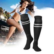 Comfortable Unisex 1 Pair Cotton Sports Socks Ankle Protective Knee-high Legging Stockings Soccer For Baseball Football