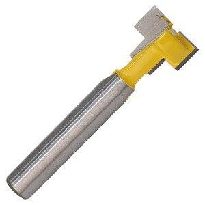 Image 3 - 2 ชิ้น/เซ็ต 1/4 นิ้ว Shank T Slot Keyhole ตัดไม้ Router บิตคาร์ไบด์เครื่องตัดสำหรับตัดไม้ Hex Bolt T  Track Slotting เครื่องตัดมิลลิ่ง