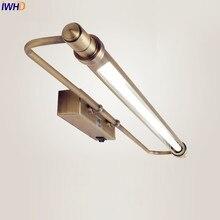 IWHD Europa LED baño armario ligero vestidor impermeable pared vintage lámpara LED baño iluminación Arandela aplique espejo Luz