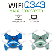 2016 Newest Mini Drone Wltoys Q343 WIFI FPV MIni Drone with Camera Gravity Control Pressure Set High Function toy VS cx-10W