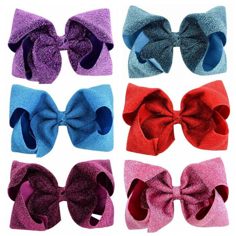 New 8 inch /4 inch Big Large Girls Boutique Hair bow Hair Clips Hair Accessories Lovely Children Bow Hairgrips Special   Headwear