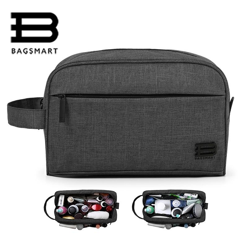 BAGSMART Unisex Travel Toiletry Bag Waterproof Toiletry Kit Potable Dopp Kit Large Capacity Cosmetice Bags For Packing Make Up