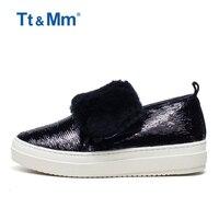 Tt و mm الساخن بيع إمرأة أسود أفخم الثلوج بلينغ أحذية شتاء دافئ أحذية الكاحل امرأة الاحذية