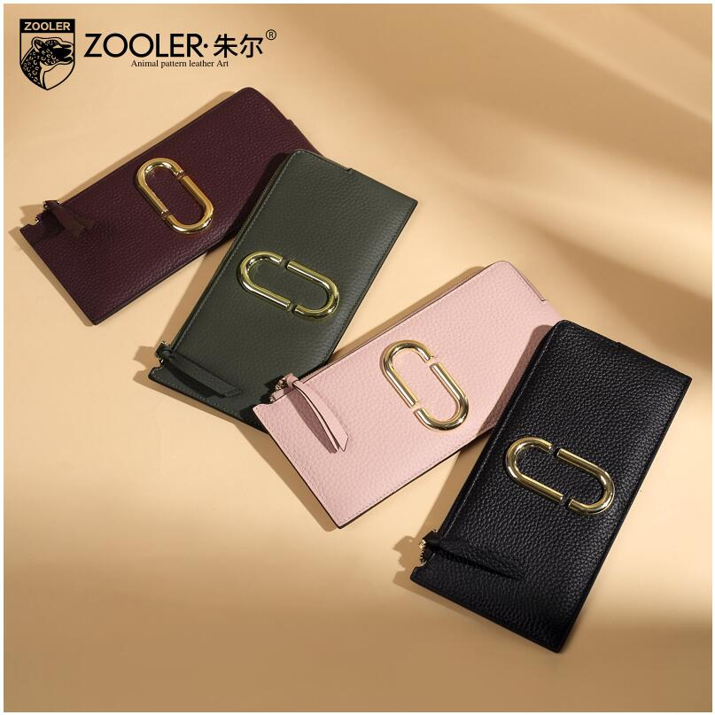 ФОТО free delivery   Ultra-thin long wallet 2017 new brand zipper Clutch Leather wallet