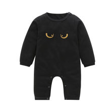 Newborn Infant Kids Baby Boys Long Sleeve Eyes Romper Jumpsuit Outfits Clothes(China)