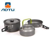 Cookware Outdoor Camping Tableware Pot Pan Picnic Canteen Survival Hiking Military Boiler Frying Teapot Set Kettle cutlery